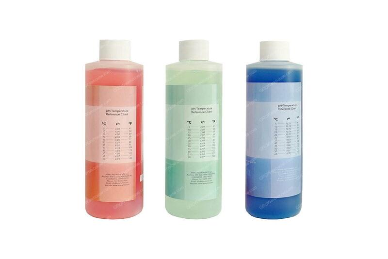 8oz. pH Calibration Buffer Solution Kit (pH 4.00, 7.00 & 10.01), plus 4oz 3M KCL Storage Solution for pH/ORP Electrodes